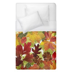 Autumn Fall Leaves Duvet Cover (single Size) by LoolyElzayat