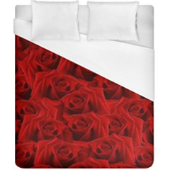 Romantic Red Rose Duvet Cover (california King Size) by LoolyElzayat