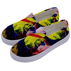 Global Warming 2 Kids  Canvas Slip Ons by bestdesignintheworld