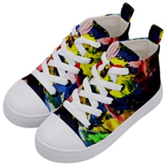 Global Warming 2 Kid s Mid Top Canvas Sneakers by bestdesignintheworld
