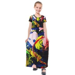 Global Warming 2 Kids  Short Sleeve Maxi Dress by bestdesignintheworld