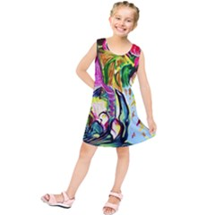 Lilac And Lillies 2 Kids  Tunic Dress