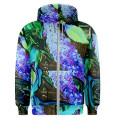 Lilac And Lillies 1 Men s Zipper Hoodie