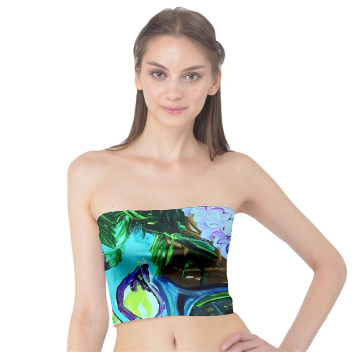 Lilac And Lillies 1 Tube Top