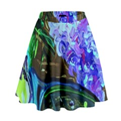 Lilac And Lillies 1 High Waist Skirt