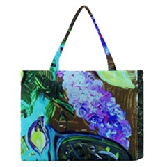 Lilac And Lillies 1 Zipper Medium Tote Bag