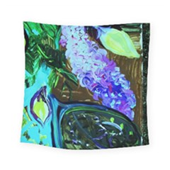 Lilac And Lillies 1 Square Tapestry (small)
