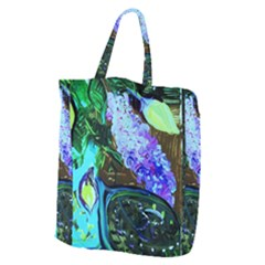 Lilac And Lillies 1 Giant Grocery Zipper Tote