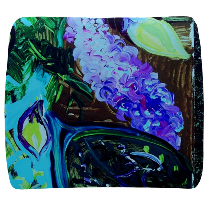 Lilac And Lillies 1 Back Support Cushion