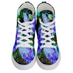 Lilac And Lillies 1 Women s Hi Top Skate Sneakers