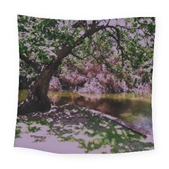 Hot Day In Dallas 31 Square Tapestry (large) by bestdesignintheworld