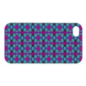 Pink Green Turquoise Swirl Pattern Apple iPhone 4/4S Hardshell Case View1
