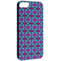 Pink Green Turquoise Swirl Pattern Apple iPhone 5 Classic Hardshell Case View2