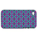 Pink Green Turquoise Swirl Pattern Apple iPhone 4/4S Hardshell Case (PC+Silicone) View1