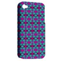 Pink Green Turquoise Swirl Pattern Apple iPhone 4/4S Hardshell Case (PC+Silicone) View2