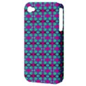 Pink Green Turquoise Swirl Pattern Apple iPhone 4/4S Hardshell Case (PC+Silicone) View3
