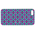 Pink Green Turquoise Swirl Pattern Apple iPhone 5 Hardshell Case with Stand View1