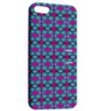 Pink Green Turquoise Swirl Pattern Apple iPhone 5 Hardshell Case with Stand View2