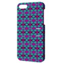 Pink Green Turquoise Swirl Pattern Apple iPhone 5 Hardshell Case with Stand View3