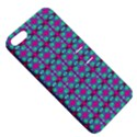 Pink Green Turquoise Swirl Pattern Apple iPhone 5 Hardshell Case with Stand View5