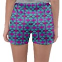 Pink Green Turquoise Swirl Pattern Sleepwear Shorts View2