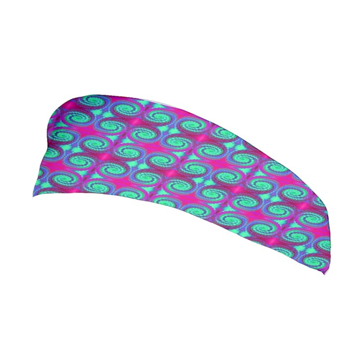Pink Green Turquoise Swirl Pattern Stretchable Headband