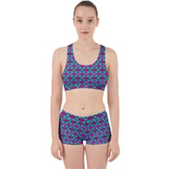 Pink Green Turquoise Swirl Pattern Work It Out Gym Set