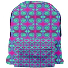 Pink Green Turquoise Swirl Pattern Giant Full Print Backpack