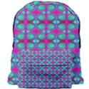 Pink Green Turquoise Swirl Pattern Giant Full Print Backpack View1