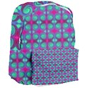 Pink Green Turquoise Swirl Pattern Giant Full Print Backpack View3