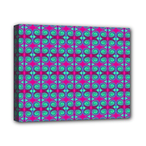 Pink Green Turquoise Swirl Pattern Canvas 10  X 8  by BrightVibesDesign