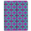 Pink Green Turquoise Swirl Pattern Apple iPad Mini Flip Case View1