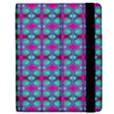 Pink Green Turquoise Swirl Pattern Apple iPad Mini Flip Case View2