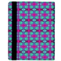 Pink Green Turquoise Swirl Pattern Apple iPad Mini Flip Case View3