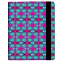 Pink Green Turquoise Swirl Pattern Samsung Galaxy Tab 8.9  P7300 Flip Case View2
