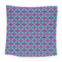 Pink Green Turquoise Swirl Pattern Square Tapestry (Large) View1