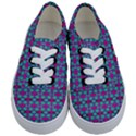 Pink Green Turquoise Swirl Pattern Kids  Classic Low Top Sneakers View1