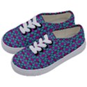 Pink Green Turquoise Swirl Pattern Kids  Classic Low Top Sneakers View2