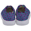 Pink Green Turquoise Swirl Pattern Kids  Classic Low Top Sneakers View4