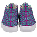 Pink Green Turquoise Swirl Pattern Kid s Mid-Top Canvas Sneakers View4