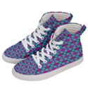 Pink Green Turquoise Swirl Pattern Women s Hi-Top Skate Sneakers View2