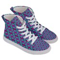 Pink Green Turquoise Swirl Pattern Women s Hi-Top Skate Sneakers View3