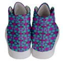 Pink Green Turquoise Swirl Pattern Women s Hi-Top Skate Sneakers View4