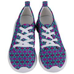 Pink Green Turquoise Swirl Pattern Women s Lightweight Sports Shoes