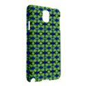 Blue Yellow Green Swirl Pattern Samsung Galaxy Note 3 N9005 Hardshell Case View2