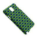 Blue Yellow Green Swirl Pattern Samsung Galaxy Note 3 N9005 Hardshell Case View5