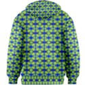 Blue Yellow Green Swirl Pattern Kids Zipper Hoodie Without Drawstring View2