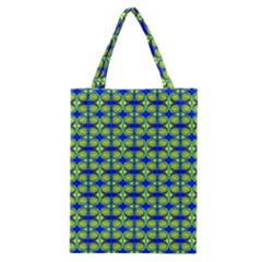 Blue Yellow Green Swirl Pattern Classic Tote Bag by BrightVibesDesign