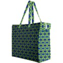 Blue Yellow Green Swirl Pattern Canvas Travel Bag View2