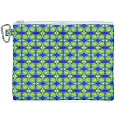 Blue Yellow Green Swirl Pattern Canvas Cosmetic Bag (xxl)